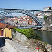 Ponte Luiz I Between Porto And Gaia In Portugal Art Print