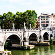 Ponte Saint' Angelo, Rome Art Print