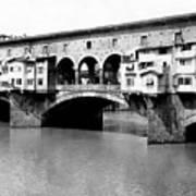 Ponte Vicchio Bridge In Florence Italy - C 1905 Art Print