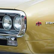 Pontiac Firebird Gold 1967 Art Print