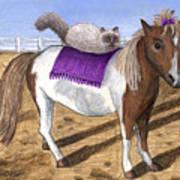 Pony Lil And Cat Annie Art Print