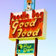 Poodle Dog Diner Art Print