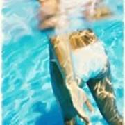 Pool Lady Art Print