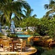 Pool Paradise Art Print