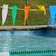 Pool Side  Art Print