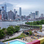 Pool With A View, Brooklyn, New York #130706 Art Print