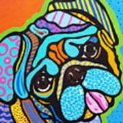 Pooped Pup Art Print