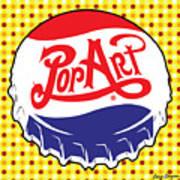 Pop Art Bottle Cap Art Print