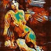Pop Art Female Study 1d Art Print