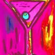 Pop Art Martini  Pink Neon Series 1989 Art Print