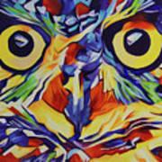 Pop Art Owl Face-1 Art Print