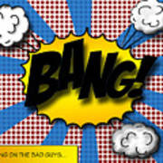 Pop Bang Art Print by Suzanne Barber