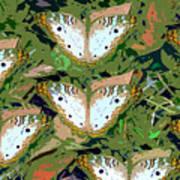 Pop Butterfly's Work Number Three Art Print