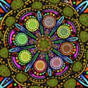 Pop Mandala Golden Art Print