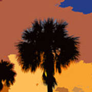 Pop Palms Art Print