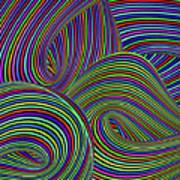 Pop Swirls Art Print