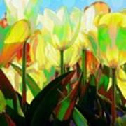 Popart Tulips Art Print
