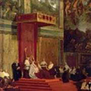 Pope Pius Vii Luigi Barnaba Chiaramonti Attending Chapel 1820 Art Print