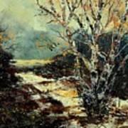 Poplars 45 Art Print
