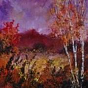 Poplars In Autumn  Art Print
