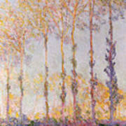 Poplars On The Banks Of The Epte Art Print