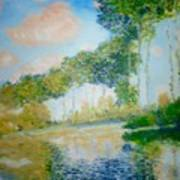 Poplars On The Epte Claude Monet Art Print