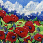 Poppies 003 Art Print