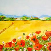 Poppies In Alentejo Art Print