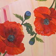 Poppies In Love Art Print