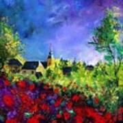 Poppies In Villers Art Print