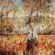 Poppy Scarecrow Art Print
