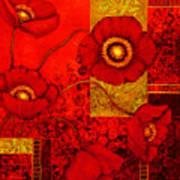 Poppy Treasures II Art Print