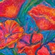 Poppy Twirl Art Print