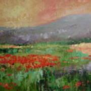 Poppyfield Art Print