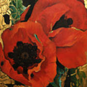 Poppygold Art Print
