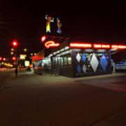 Popular Chicago Hot Dog Stand Night Art Print