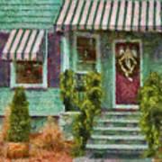Porch - Westfield Nj - Welcome Friends Art Print