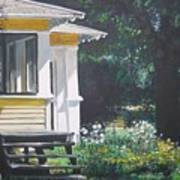 Porch By The Road Art Print