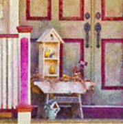Porch - Cranford Nj - The Birdhouse Collector Art Print by Mike Savad
