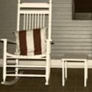 Porch Rocker Art Print