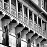Porches Of Flagler College Art Print