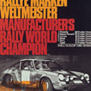 Porsche 1970 Rally World Champion Art Print