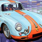 Porsche 356 Gulf Art Print by Yuriy  Shevchuk
