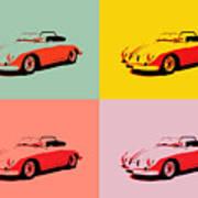 Porsche 356 Pop Art Panels Art Print