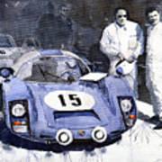 Porsche 906 Daytona 1966 Herrmann-linge Art Print by Yuriy  Shevchuk