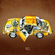 Porsche 911 1973 Art Print