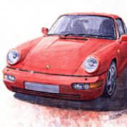 Porsche 911 Carrera 2 1990 Art Print