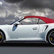 Porsche 911 Turbo S With Clouds Art Print