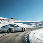 Porsche 911r Powerslide Art Print
