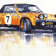 Porsche 914-6 Gt Rally Art Print